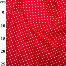 100% Cotton Bright Red Polka Dot Print Fabric x 0.5m